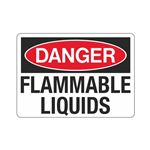 Danger Flammable Liquids (Chemical) Sign