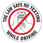 "No Texting While Driving - 3"" Diameter Decal"