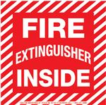 Safety Decals - Fire Extinguisher Inside 4 x 4