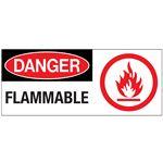 Danger Flammable Sign 7 x 17