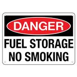 Danger Fuel Storage No Smoking Sign