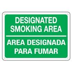 Designated Smoking Area  … mar Area Designada Sign