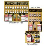 Lockout Centers - Personal Size Center with Components 10 x 12