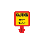 Safety Cone Warning Decal - Caution - Wet Floor 8 x 8