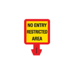 Safety Cone Accessories - No Entry - Restricted Area 8 x 8