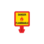 Safety Cone Accessories - Danger - Flammable 8 x 8