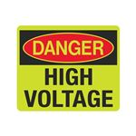 Luminescent Danger High Voltage 10x12 Sign