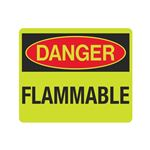 Luminescent Danger Flammable 10x12 Sign