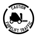 Forklift Traffic Only Stencil - 24 in. x 24 in.
