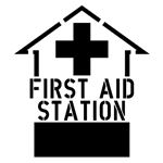 First Aid Ahead Stencil