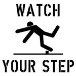 Watch Your Step Stencil - 24 in. x 24 in.