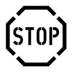 Stop Sign Stencil - 2' x 2'