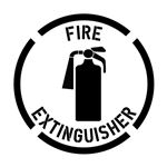 Fire Extinguisher Stencil - 24 in. x 24 in.