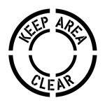 Keep Area Clear Stencil - 24 in. x 24 in.