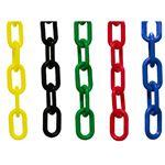 """Safety Cone Accessories 2"""" Plastic Chain 100'"""