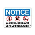 Notice Alcohol, Drug and … acco Free Facility Sign