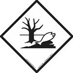 Marine Pollutant Markings - Polyvinyl 12 mil Placard 10 3/4 x 10 3/4