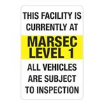 MARSEC Signs - Level 1 Marsec Sign 24 x 36