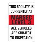 MARSEC Signs - Level 3 Marsec Sign 24 x 36