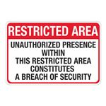MARSEC Signs - Restricted Area 24 x 36
