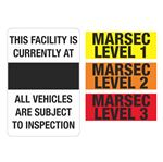 Magnetic MARSEC Signs - MARSEC Magnetic Entry Sign 24 x 36