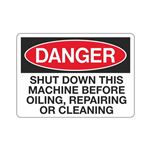 Danger Shut Down This Ma … airing or Cleaning Sign