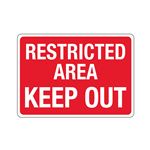 Stock Property Protection Sign - Restricted Area Keep Out