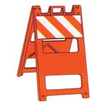 Reflective Jumbo Signs-Type 1-Barricade Striped Orange Refl.