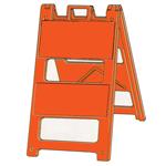 Reflective Jumbo Signs - Type 2 Barricade Solid Orange Reflective