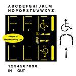 Parking Lot Stencil Kit