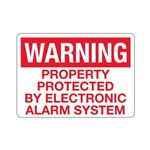 Warning Property Protect … ronic Alarm System Sign