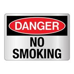 Danger No Smoking Sign - Reflective 10 x 14