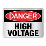 Danger High Voltage Sign - Reflective