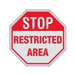 STOP Restricted Area Sign Reflective