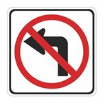No Left Turn (Graphic) - High Intensity Reflective 30x30 30 x 30
