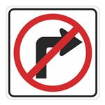 No Right Turn (Graphic) - Engineer Grade Reflective 30x30 30 x 30