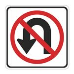 No U Turn (Graphic) - High Intensity Reflective 24 x 24
