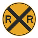 Railroad Crossing (Graphic) - High Intensity Reflective 30 x 30