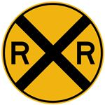 Railroad Crossing (Graphic) - Engineer Grade Reflective 30 x 30