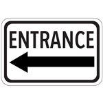 Entrance Arrow - Left - Engineer Grade Reflective 12 x 18