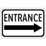 Entrance Arrow - Right - Engineer Grade Reflective 12 x 18