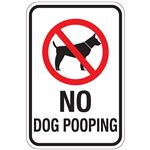 No Dog Pooping (With Graphic) 12x18