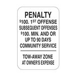Penalty - Tow Away Sign
