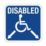 Disabled with Arrows - Symbol Sign