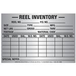 "Reel Inventory tag 4""High x 6""Wide Alum Foil Decal"
