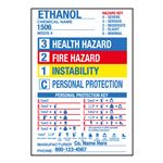 "Blank Chemical Hazard Label - Pre-Printed- 4 1/2"" x 6 1/2"" 4.5 x 6.5"