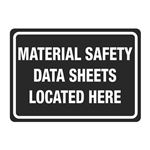 Right To Know Signs-Material Safety Data Sheets Here-10x14