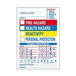 "Blank Chemical Hazard Label - Pre-Printed- 7"" x 10"" 7 x 10"