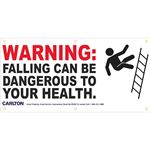 Warning:Falling Can Be Dangerous...Graphic Banner 3'x6' w/Rope