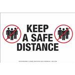 "Anti-Slip Floor Decal-Keep A Safe Distance-8""x12"""
